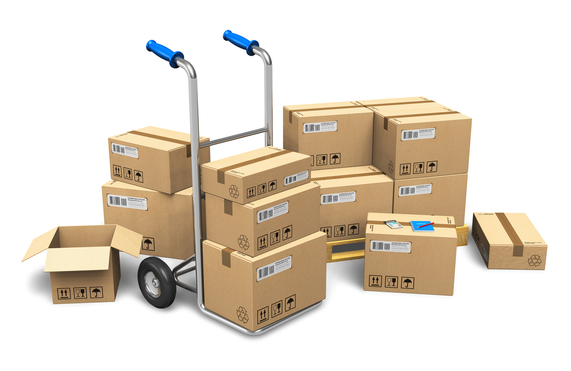 International box shipping service